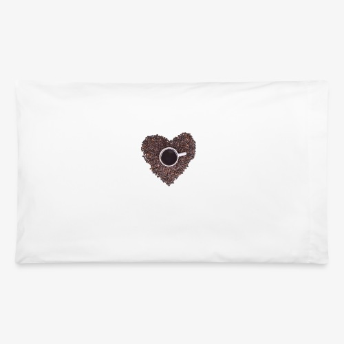 I Heart Coffee Black/White Mug - Pillowcase 32'' x 20''