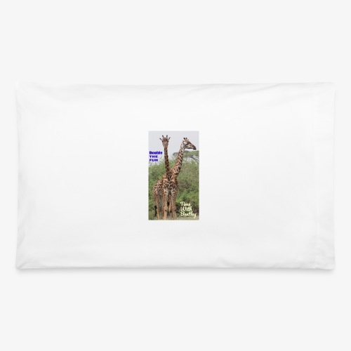 Two Headed Giraffe - Pillowcase 32'' x 20''