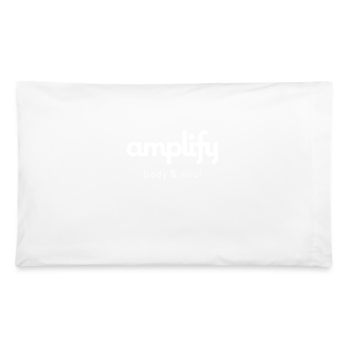 amplify logo // white - Pillowcase 32'' x 20''