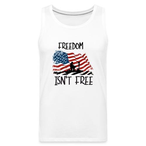 Freedom isn't free flag with fallen soldier design - Men's Premium Tank