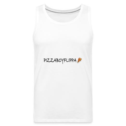 PizzaBoyFlippa - Black - Men's Premium Tank