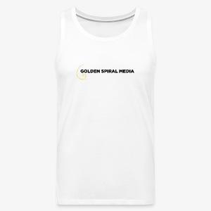 Golden Spiral Media Black Logo - Men's Premium Tank