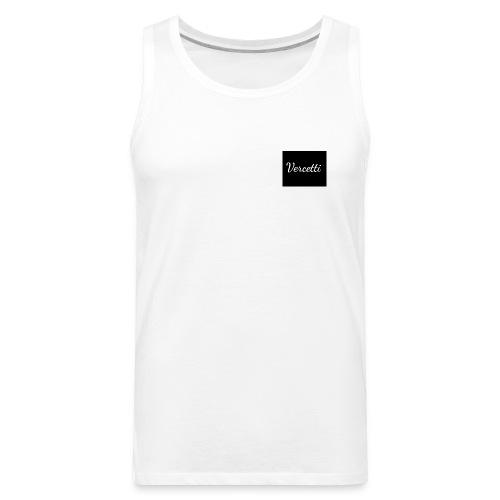 White Vercetti Summer shirt. - Men's Premium Tank