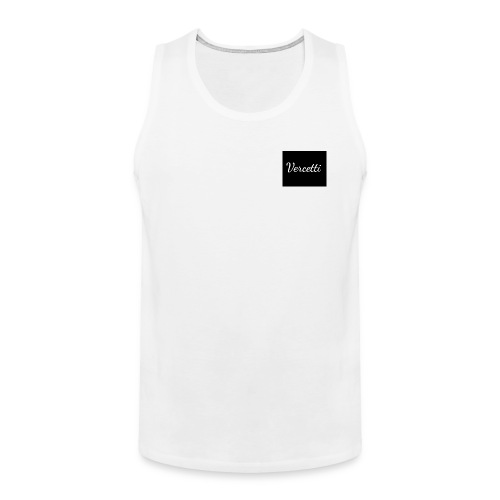 White Vercetti Summer shirt. - Men's Premium Tank
