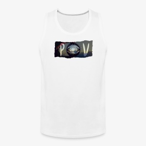 Abstract POV Worn Box Logo - Men's Premium Tank