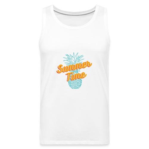 Summer time Pineapple T-shirt - Men's Premium Tank