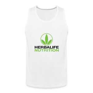 Herbalife Nutrition White Apparel - Men's Premium Tank