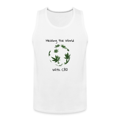 Healing the World with CBD - Men's Premium Tank