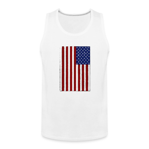 USA Flag (Distressed) - Men's Premium Tank