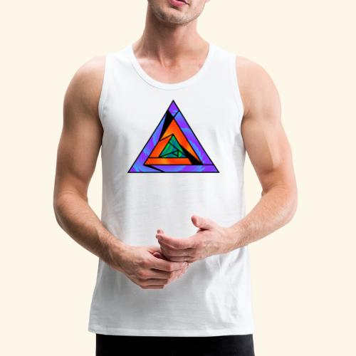 Trippy Triangle - Men's Premium Tank