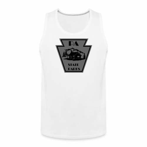 Keystone with Cabin Black and Grey - Men's Premium Tank