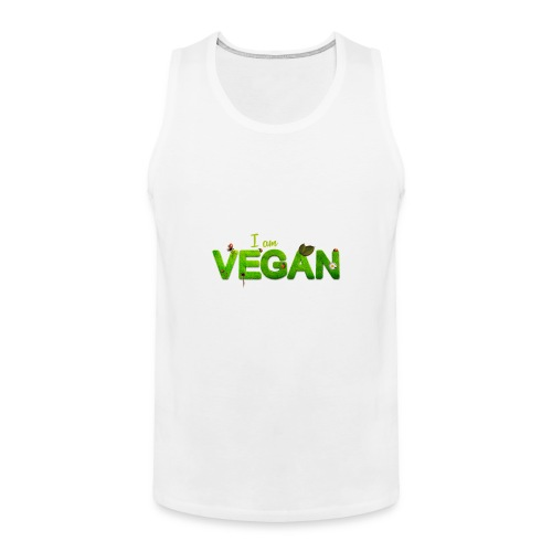 I am Vegan - Men's Premium Tank