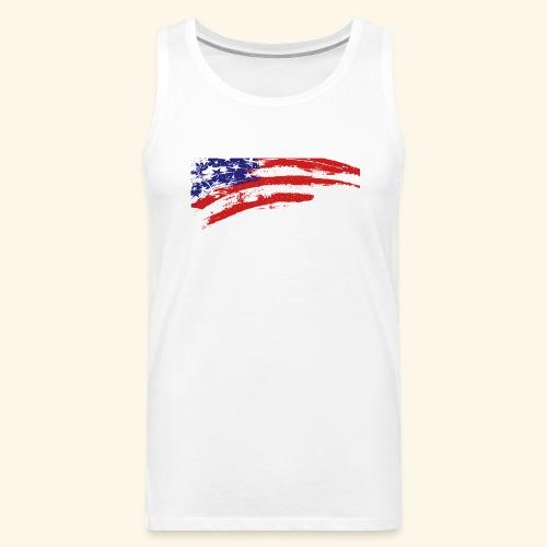 American flag shirt - Men's Premium Tank