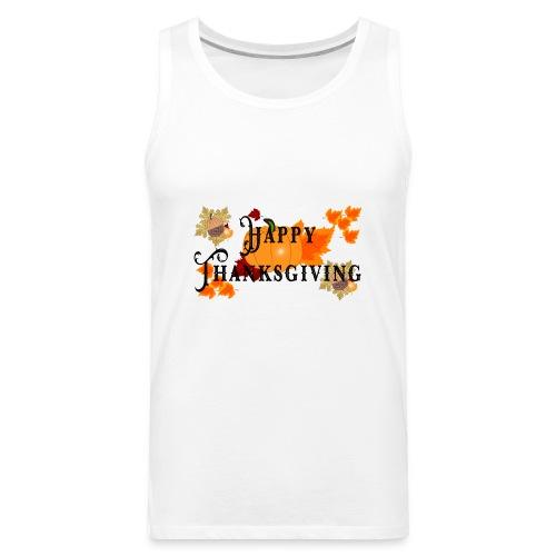 Happy Thanksgiving greeting card - Men's Premium Tank