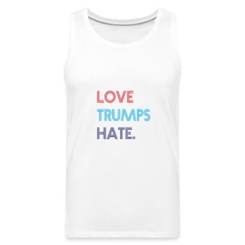 Love Trumps Hate Retro - Men's Premium Tank
