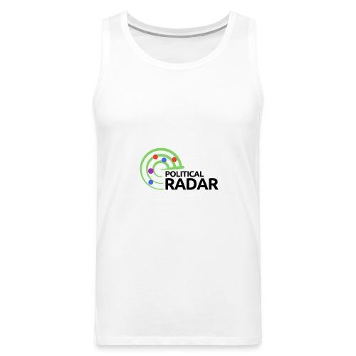 Political Radar Logo - Black - Men's Premium Tank