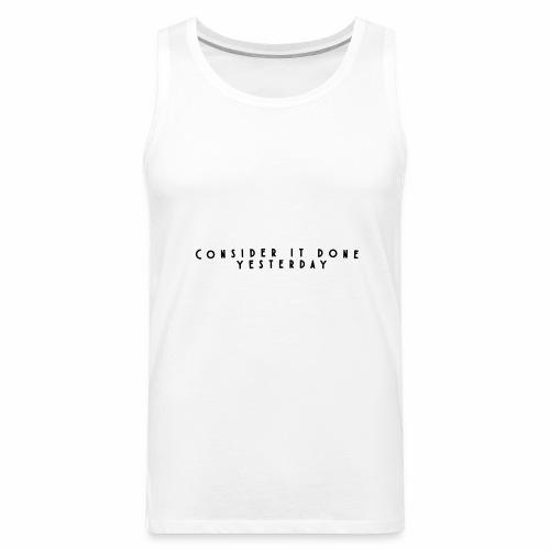 Rebound Offical Montra Text Tee/Sweatshirt/Hoodie - Men's Premium Tank