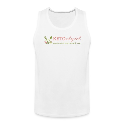 Keto Adapted logo wide Clear - Men's Premium Tank