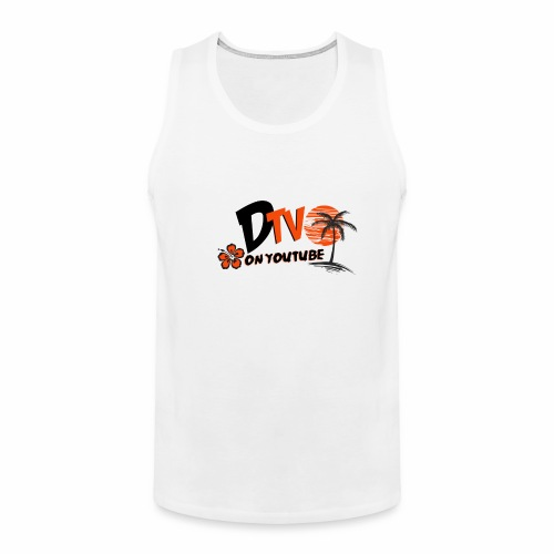 DTV VLOG Title California Logo on youtube - Men's Premium Tank