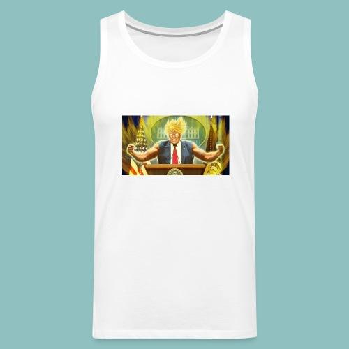 Donald Trump goes Super Saiyan - Men's Premium Tank