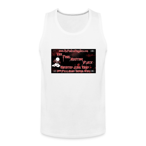 The_Final_Resting_Place_Logo_Address - Men's Premium Tank