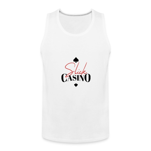 Slick Casino Logo - Men's Premium Tank