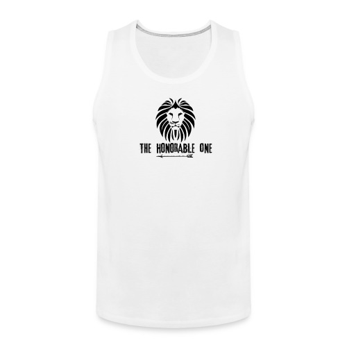 Lion: The Honorable One (Black) - Men's Premium Tank