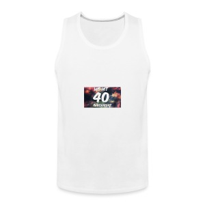 Lankydiscmaster's 40 subs shirt and more - Men's Premium Tank
