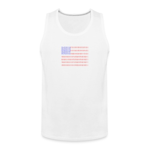 no trump no kkk USA flag - Men's Premium Tank