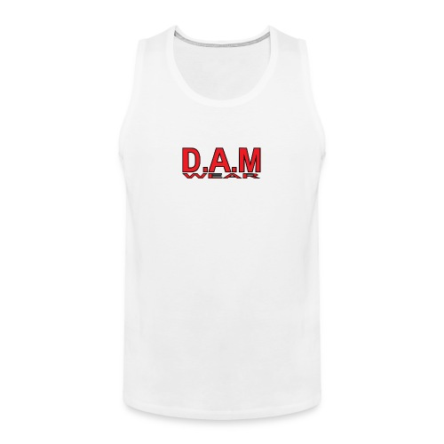 BIG RED D A M LETTERS - Men's Premium Tank