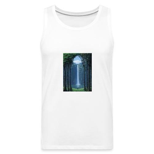 Waterfall lake - Men's Premium Tank