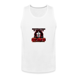Motivation and Muscle Dominate Obliterate and Dent - Men's Premium Tank