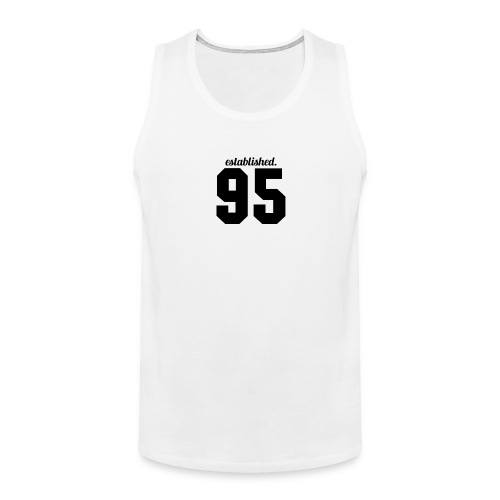 95 established T-Shirt (White) - Men's Premium Tank