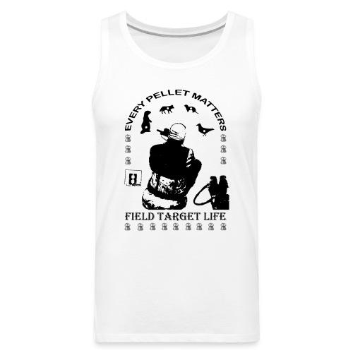 T-shirt Every Pellet Matters Air Rifle Target - Men's Premium Tank