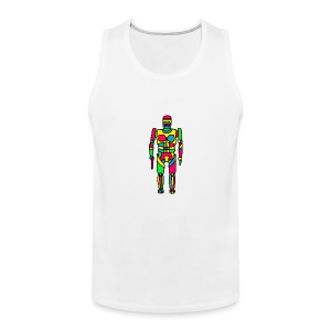 Cartoon Robocop in Color - Men's Premium Tank