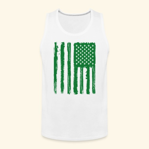 Free Denizens Legalize It US Cannabis Flag - Men's Premium Tank