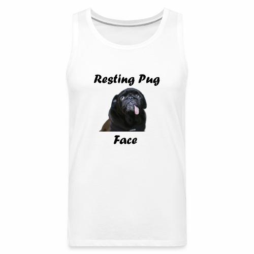 Resting Pug Face Tshirt - Men's Premium Tank