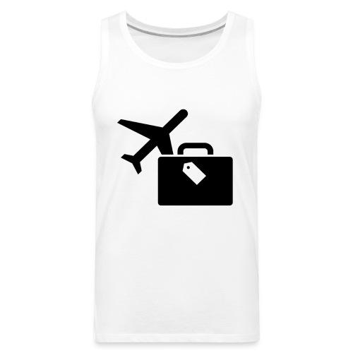 Airplane Luggage logo Icons Symbols Gift Shirt - Men's Premium Tank