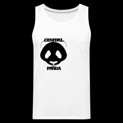 Central Panda in White - Men's Premium Tank