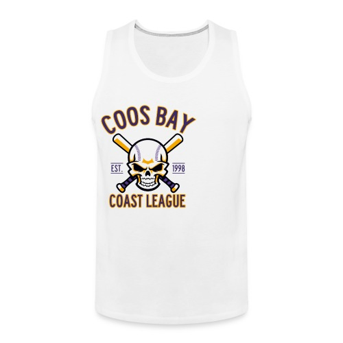Coos Bay Coast League on White or Gray - Men's Premium Tank