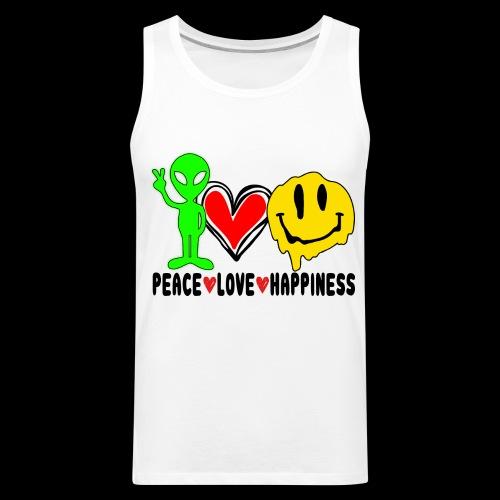 Peace Love Happpiness - Men's Premium Tank