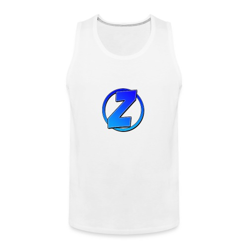 Blue Ziffy logo Shirt - Men's Premium Tank