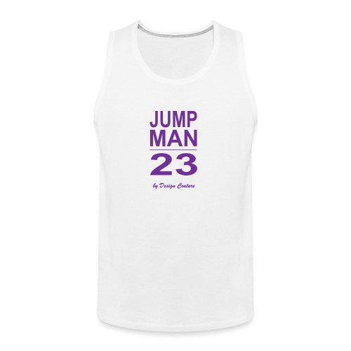 JUMP MAN 23 PURPLE - Men's Premium Tank