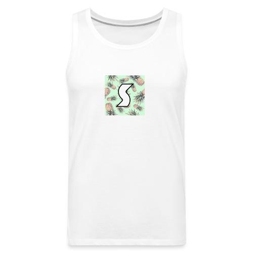 Scorch Pineapple Logo Design - Men's Premium Tank