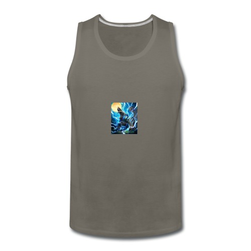 Blue lighting dragom - Men's Premium Tank