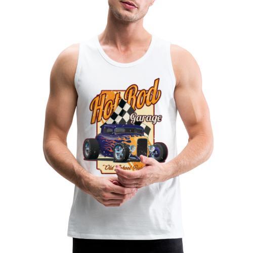 Hot Rod Garage Old School Rules - Men's Premium Tank