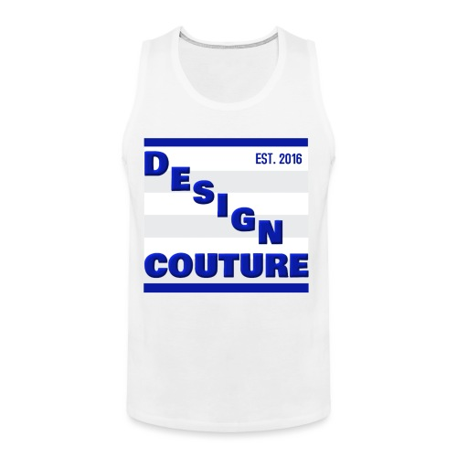 DESIGN COUTURE EST 2016 BLUE - Men's Premium Tank