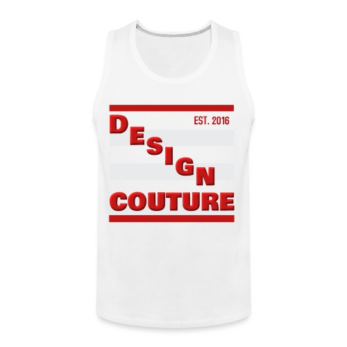 DESIGN COUTURE EST 2016 RED - Men's Premium Tank