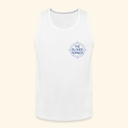 The Blonde Nomads Blue Logo - Men's Premium Tank