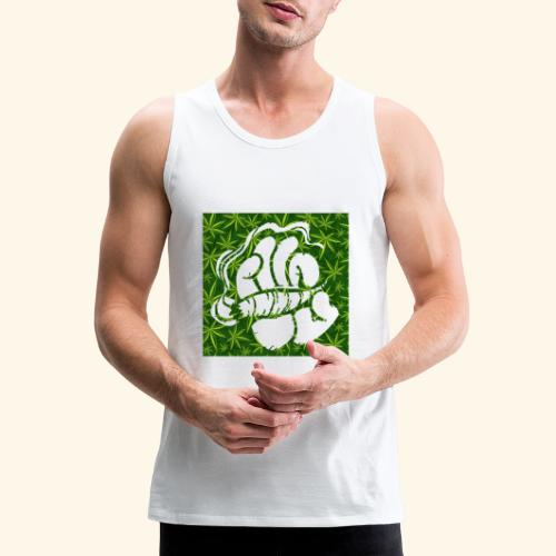 Hand with a joint - smoking weed 420 lifestyle - Men's Premium Tank